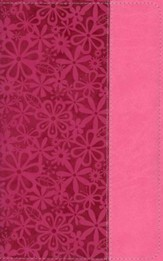 NIV Adventure Bible, Italian Duo-Tone, Raspberry/Pink