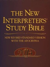 The New Interpreter's Study Bible (NRSV with the Apocrypha), hardcover - Slightly Imperfect