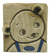 Tiny Bear's Bible, Board Book, Faux Fur, Blue - Slightly Imperfect