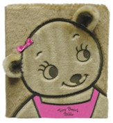 Tiny Bear's Bible, Board Book, Faux Fur, Pink