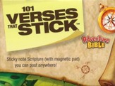 101 Verses that Stick for Kids based on the NIV Adventure Bible: Bible Verses for Your Locker or Home, Sticky Notes