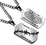 I Know Crown of Thorns Dog Tag