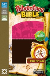 NIV Adventure Bible, Italian Duo-Tone, Chocolate/Hot Pink - Imperfectly Imprinted Bibles
