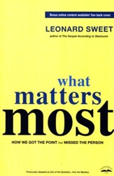 What Matters Most: How We Got the Point but Missed the Person - Slightly Imperfect