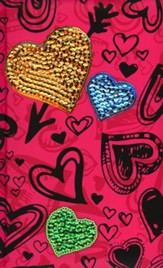 NIV Sequin Bible Hot Pink Hearts