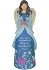 I Can Do All Things Through Christ, Angel Figurine