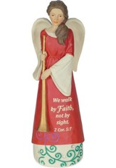 We Walk By Faith Not By Sight, Angel Figurine