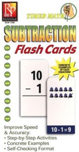 Timed Math Subtraction Flash Cards