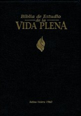 Biblia de Estudio de la Vida Plena RVR 1960, Piel Negra, Ind.  (RVR 1960 Full Life Study Bible, Black Leather, Ind.)