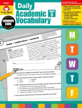 Daily Academic Vocabulary, Grade 5