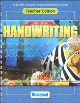 Universal Handwriting: Manuscript  Review & Intro to Cursive, Teacher Edition (Grade 2MC)