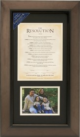 The Resolution Framed Print with Photo Opening