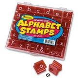Lowercase Alphabet Stamps, Set of 34