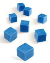 Blue Plastic Base Ten Components: Units, Set of 100
