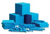 Blue Plastic Base Ten Place Value Set