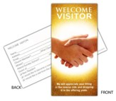 Welcome Visitor Card (Handshake), Package of 25