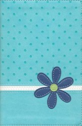 NIV Faithgirlz!-Style Backpack Bible, Italian Duo-Tone, Turquoise  - Imperfectly Imprinted Bibles