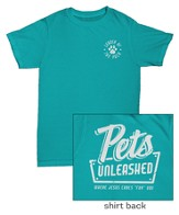 Pets Unleashed Staff T-shirt, Medium (38-40)