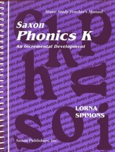 Saxon Phonics K, Teacher's Manual