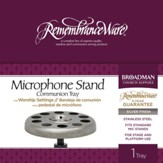 RemembranceWare Silver Microphone Stand Tray