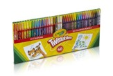 Twistable Combo Pack, 20 Crayons, 20 Pencils