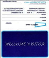 Welcome Visitor (Form WV7), Pkg Of 100