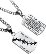 Fear Not Crown of Thorns Dog Tag