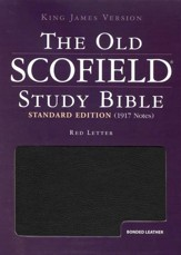 KJV Old Scofield Study Bible, Standard Edition, Bonded leather,  Black, Thumb-Indexed