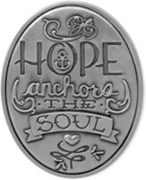 Hope Anchors the Soul Visor Clip