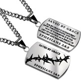 Grace Crown of Thorns Dog Tag