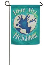Love Thy Neighbor Suede Flag, Small