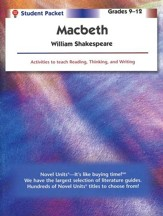 Macbeth, Novel Units Student Packet,  Grades 9-12