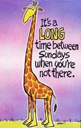 Postcard - It's A Long Time Between Sundays (pkg. of 25)
