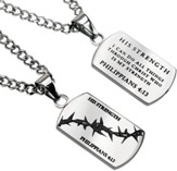 His Strength Crown of Thorns Dog Tag