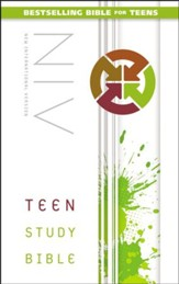 NIV Teen Study Bible, Hardcover, Printed Caseside