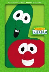 NIrV VeggieTales Bible--soft leather-look, lime green - Imperfectly Imprinted Bibles