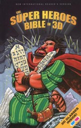 The NIrV Super Heroes Bible in 3D, Hardcover  - Slightly Imperfect