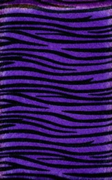 NIV Plush Bible, Thinline, Purple Zebra