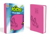 KJV Kids Study Bible, Leather-Look, Fluttering Fuchsia - Slightly Imperfect