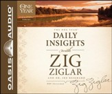 One Year Daily Insights with Zig Ziglar Unabridged Audiobook on CD