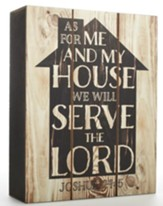 As for me and My House, Wall Plaque