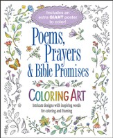Prayers, Poems and Bible Promises Coloring Art with Poster