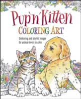 Pup 'N' Kitten Coloring Art