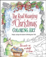The Real Meaning of Christmas Coloring Art