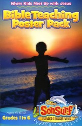 Bible Teaching Poster Pack: Where Kids Meet Up with Jesus, Ages 6-12, Grades 1-6