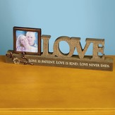 Love Plaque with Photo Frame Holder