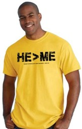 He Is Greater Than Me Shirt, Yellow, Large