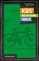 NIrV Kids Devotional Bible, Imitation Leather, Green Bicycle