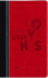 Biblia para el Lider de Jovenes NVI, Piel Imit. Negra/Rojo  (NVI Youth Leader Bible, Imit. Leather Black/Red)