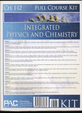 Integrated Physics and Chemistry  Full Course Kit